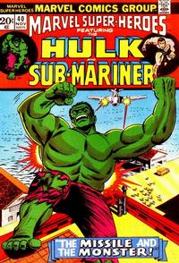 Cover for Marvel Super-Heroes (Marvel, 1967 series) #40