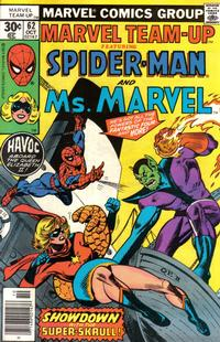 Cover for Marvel Team-Up (Marvel, 1972 series) #62 [35 cent cover price variant]