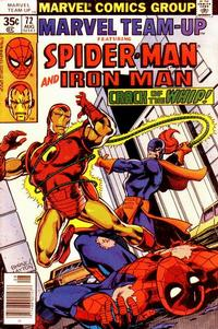 Cover for Marvel Team-Up (Marvel, 1972 series) #72 [British price variant.]