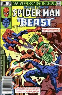 Cover Thumbnail for Marvel Team-Up (Marvel, 1972 series) #124 [Newsstand Edition]
