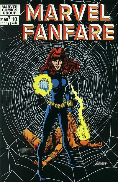 Cover for Marvel Fanfare (Marvel, 1982 series) #10