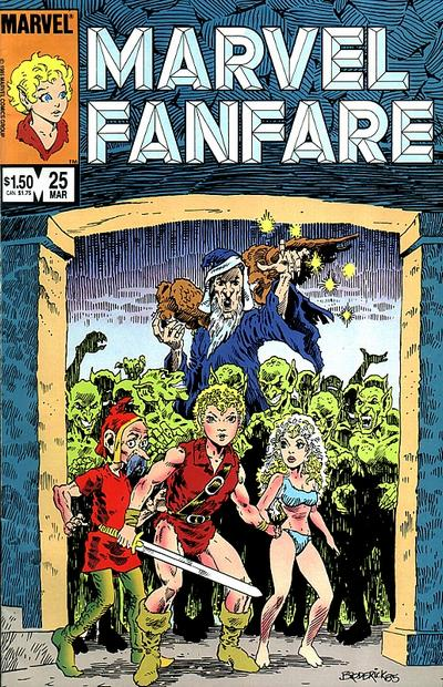 Cover for Marvel Fanfare (Marvel, 1982 series) #25