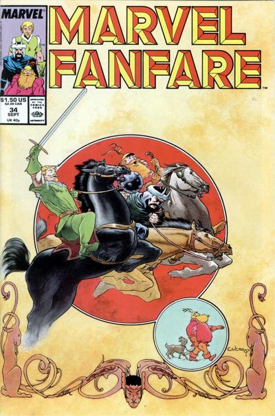 Cover for Marvel Fanfare (Marvel, 1982 series) #34