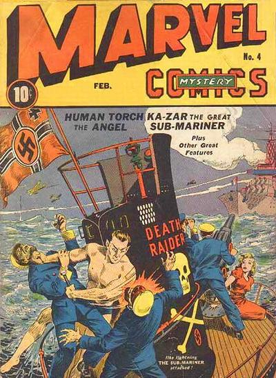 Cover for Marvel Mystery Comics (Marvel, 1939 series) #4