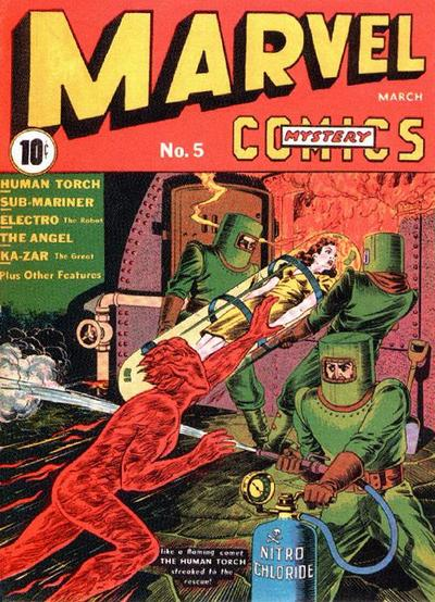 Cover for Marvel Mystery Comics (Marvel, 1939 series) #5