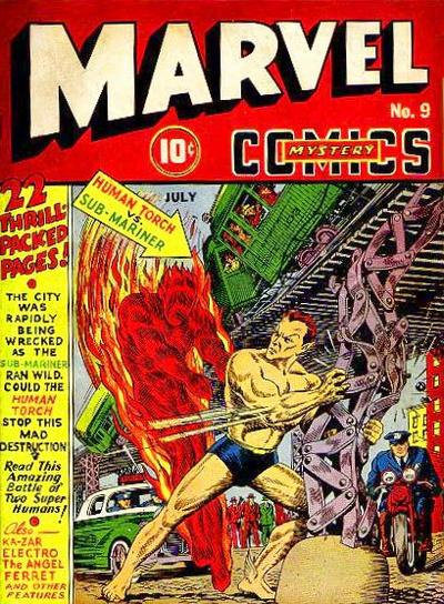 Cover for Marvel Mystery Comics (Marvel, 1939 series) #9