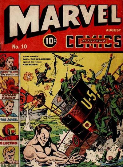 Cover for Marvel Mystery Comics (Marvel, 1939 series) #10