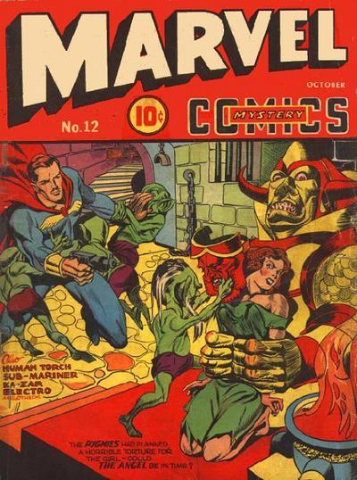 Cover for Marvel Mystery Comics (Marvel, 1939 series) #12