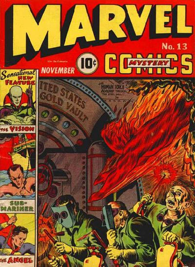 Cover for Marvel Mystery Comics (Marvel, 1939 series) #13
