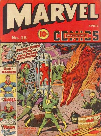 Cover for Marvel Mystery Comics (Marvel, 1939 series) #18