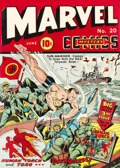 Cover for Marvel Mystery Comics (Marvel, 1939 series) #20