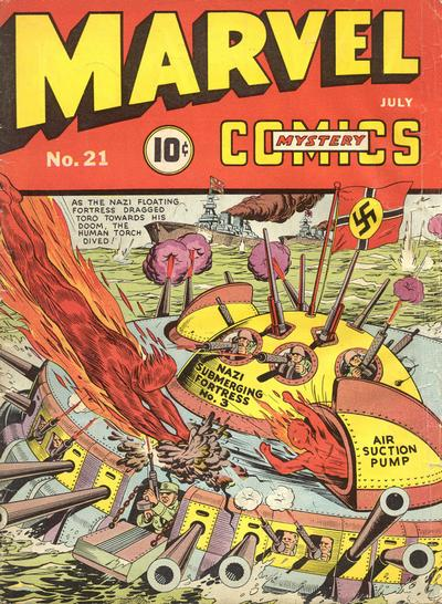 Cover for Marvel Mystery Comics (Marvel, 1939 series) #21