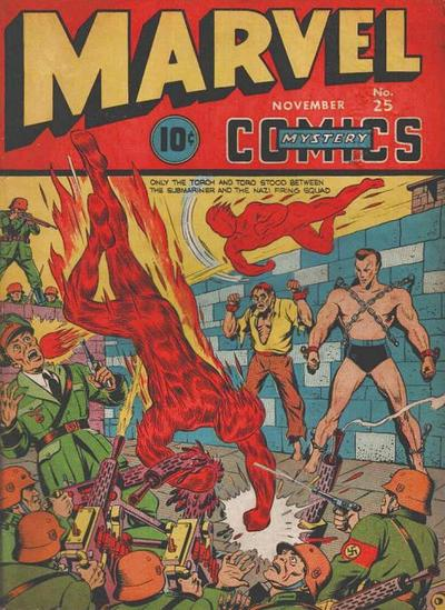 Cover for Marvel Mystery Comics (Marvel, 1939 series) #25