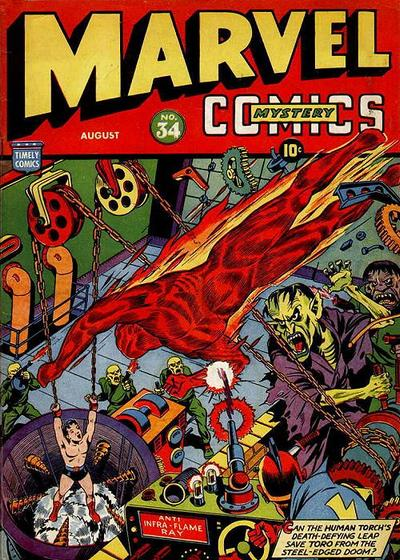 Cover for Marvel Mystery Comics (Marvel, 1939 series) #34