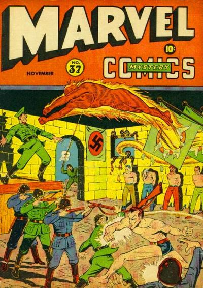 Cover for Marvel Mystery Comics (Marvel, 1939 series) #37