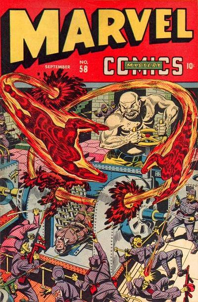Cover for Marvel Mystery Comics (Marvel, 1939 series) #58