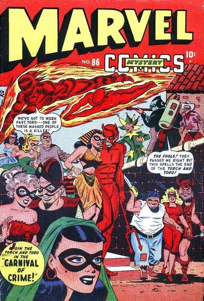 Cover for Marvel Mystery Comics (Marvel, 1939 series) #86
