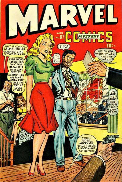 Cover for Marvel Mystery Comics (Marvel, 1939 series) #87