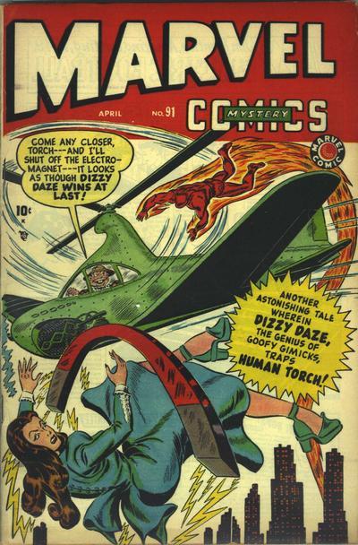 Cover for Marvel Mystery Comics (Marvel, 1939 series) #91