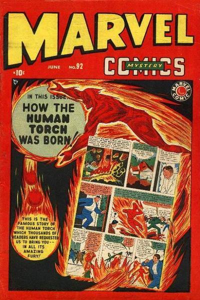 Cover for Marvel Mystery Comics (Marvel, 1939 series) #92