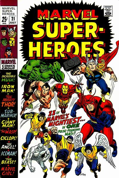 Cover for Marvel Super-Heroes (Marvel, 1967 series) #21