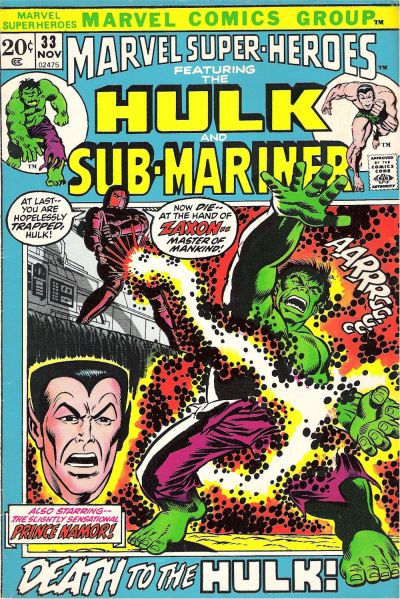 Cover for Marvel Super-Heroes (Marvel, 1967 series) #33