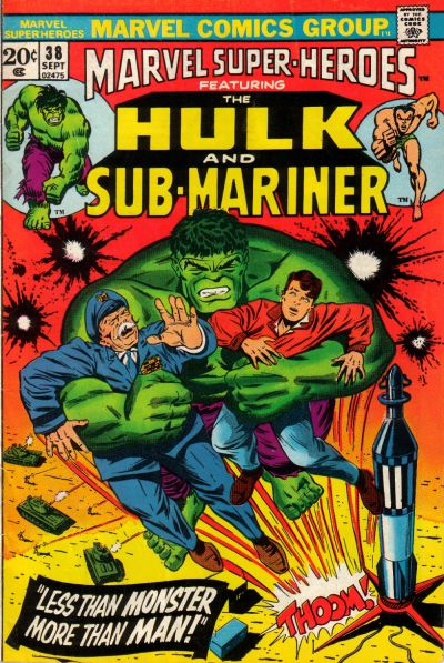 Cover for Marvel Super-Heroes (Marvel, 1967 series) #38