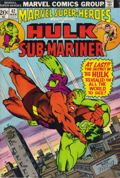 Cover for Marvel Super-Heroes (Marvel, 1967 series) #42