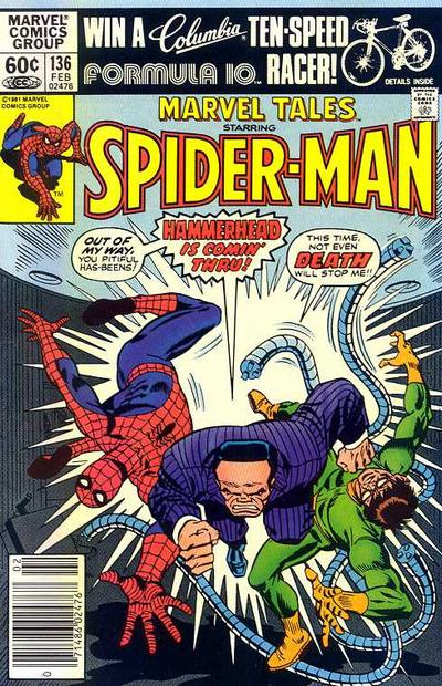 Cover for Marvel Tales (Marvel, 1966 series) #136