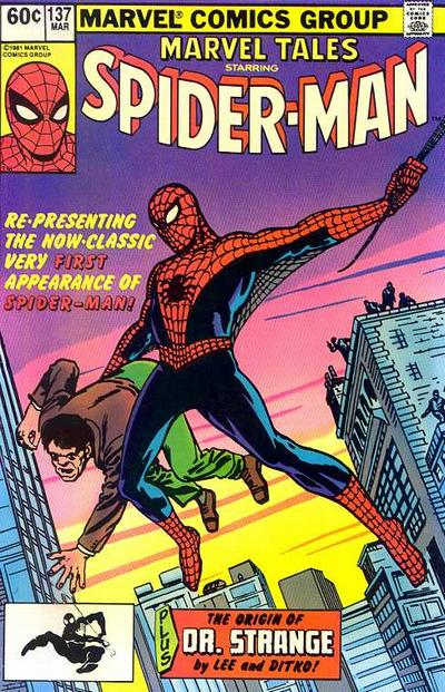 Cover for Marvel Tales (Marvel, 1966 series) #137 [Direct Sales (Original Costume UPC)]
