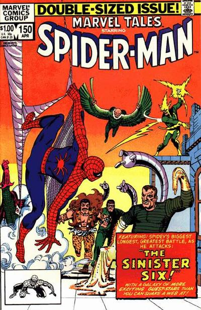 Cover for Marvel Tales (Marvel, 1966 series) #150 [Direct Edition]