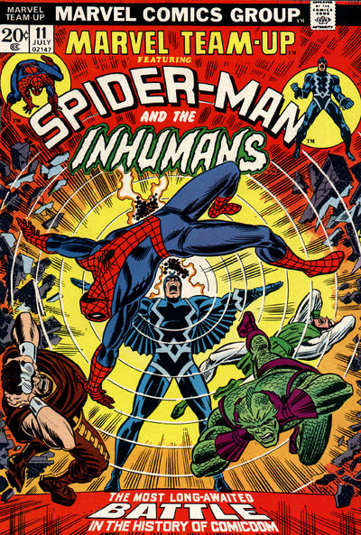 Cover for Marvel Team-Up (Marvel, 1972 series) #11