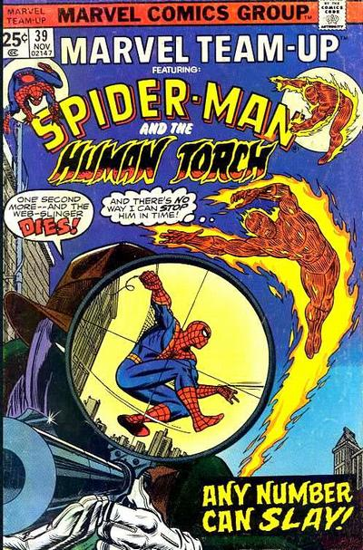 Cover for Marvel Team-Up (Marvel, 1972 series) #39
