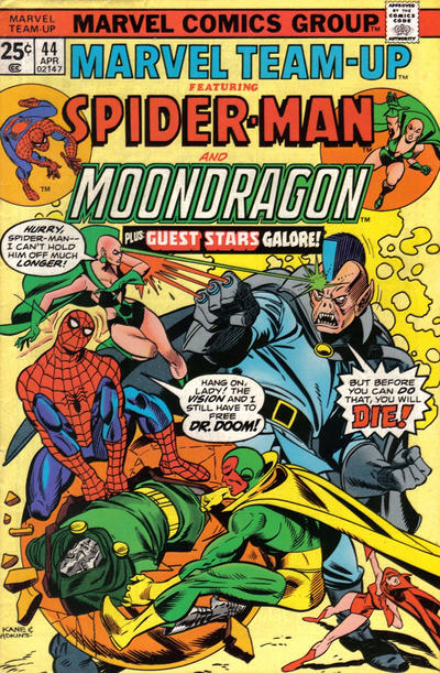 Cover for Marvel Team-Up (Marvel, 1972 series) #44 [British price variant.]