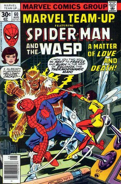 Cover for Marvel Team-Up (Marvel, 1972 series) #60 [British price variant.]