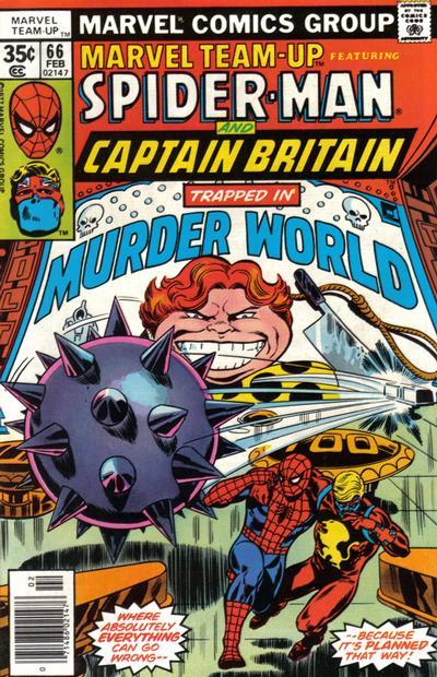 Cover for Marvel Team-Up (Marvel, 1972 series) #66 [British price variant.]