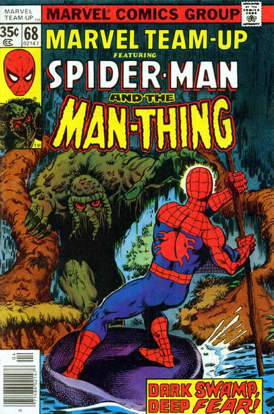 Cover for Marvel Team-Up (Marvel, 1972 series) #68 [British price variant.]
