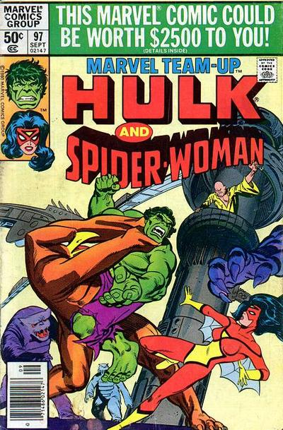 Cover for Marvel Team-Up (Marvel, 1972 series) #97 [Direct Edition]