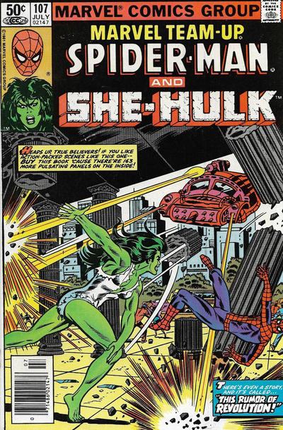 Cover for Marvel Team-Up (Marvel, 1972 series) #107 [Direct Edition]