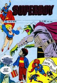 Cover Thumbnail for Superboy (Illustrerte Klassikere / Williams Forlag, 1969 series) #5/1975