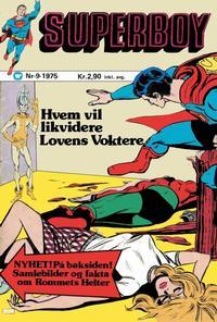 Cover Thumbnail for Superboy (Illustrerte Klassikere / Williams Forlag, 1969 series) #9/1975