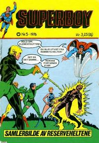 Cover Thumbnail for Superboy (Illustrerte Klassikere / Williams Forlag, 1969 series) #5/1976