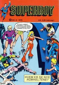 Cover Thumbnail for Superboy (Illustrerte Klassikere / Williams Forlag, 1969 series) #6/1976