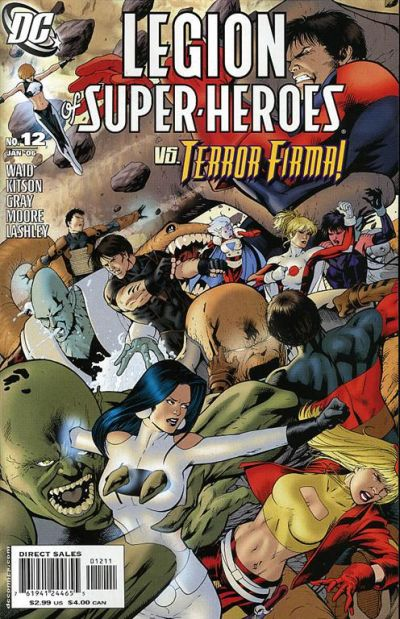Cover for Legion of Super-Heroes (DC, 2005 series) #12