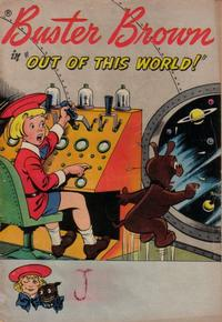"""Cover Thumbnail for Buster Brown in """"Out of This World!"""" (American Comics Group, 1959 series)"""