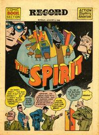 Cover Thumbnail for The Spirit (Register and Tribune Syndicate, 1940 series) #8/8/1943