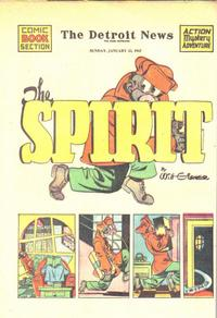 Cover Thumbnail for The Spirit (Register and Tribune Syndicate, 1940 series) #1/25/1942