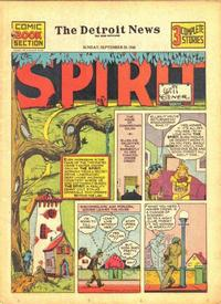 Cover Thumbnail for The Spirit (Register and Tribune Syndicate, 1940 series) #9/29/1940