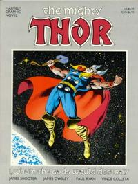 Cover for Marvel Graphic Novel (Marvel, 1982 series) #33 - The Mighty Thor: I, Whom the Gods Would Destroy