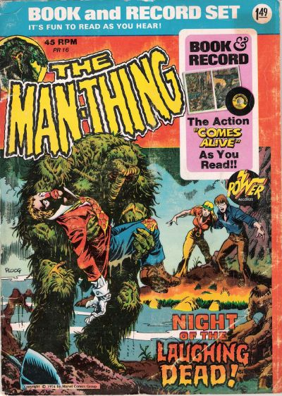 Cover for The Man-Thing: Night of the Laughing Dead! [Book and Record Set] (Peter Pan, 1974 series) #PR16